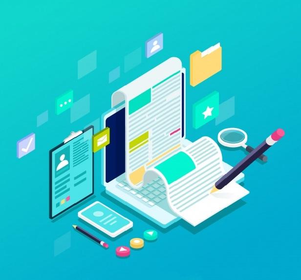 conceito de blogging isometrico 23 2148008214 1 - O que é marketing de conteúdo e como usar essa estratégia