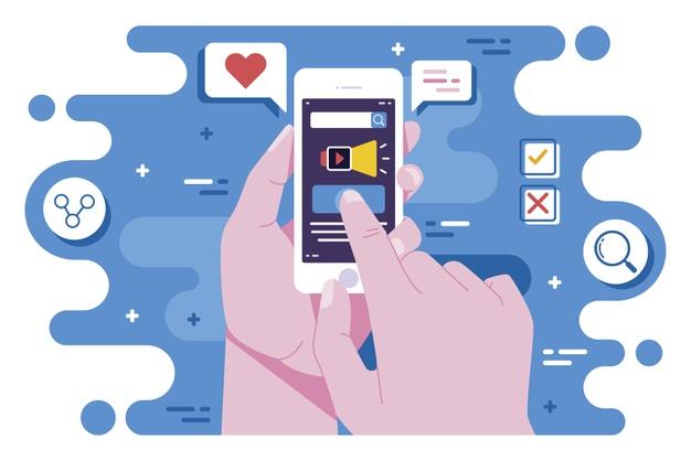 conceito de telefone movel de marketing de midia social 52683 32484 - Como criar uma narrativa emocional a favor da sua marca