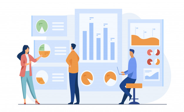 trabalhadores de escritorio analisando e pesquisando dados comerciais 74855 4445 1 - O que é marketing de conteúdo e como usar essa estratégia